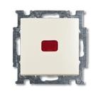 Переключатель 1 кл. с подсветкой и N-клеммой, белый, ABB Basic 55 (1012-0-2190)