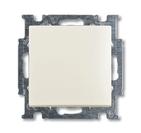 Выключатель 1 кл. кнопочный, НО контакт, белый, ABB Basic 55 (1413-0-1099)