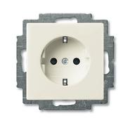 Розетка с заземлением и шторками, белый, ABB Basic 55 (2013-0-5339)
