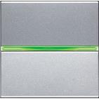 Переключатель 1 кл, с подсветкой - серебро, ABB Zenit (N2202.5 PL)