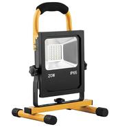 Прожектор LED PROFI, переносной, аккумуляторный с зарядным устройством 20w 6400К, IP65, черный - Feron