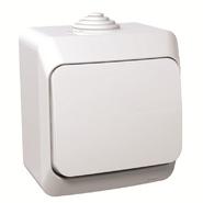 ЭТЮД Кнопка нажимная (сх.1) IP44 белый (KA10-041B)