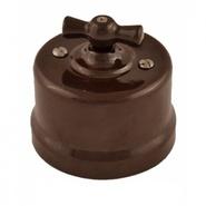 Переключатель 1кл промежуточный, пластик, коричневый - Bironi
