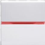 Переключатель 1-кл проходной с красной подсветкой,ABB Zenit  альпийский белый (N2202 BL N2192 RJ)