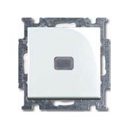 Выключатель 1кл. светодиодная подсветка, альпийский белый, ABB Basic 55 (1012-0-2153)