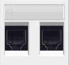 Розетка компьютерная 8 контактов двойная, категория 6UTP ABB Zenit  альпийский белый (2 х 2018.6 + N2218.2 BL)