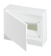 Бокс внешнего монтажа 12 модулей, белая непрозрачная дверь, с клеммами - ABB Basic E