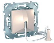 Выключатель без фиксации со шнуром (1м) бежевый Schneider Electric/Unica MGU5.226.25ZD