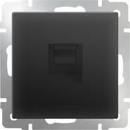 Розетка компьютерная RJ-45, WL08-RJ-45 - черный матовый, Werkel