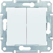 Выключатель 2кл IP44 - белый, Schneider Sedna