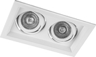 Карданный светильник, 2х50W, MR16, G5.3, DLT202 - белый, Feron