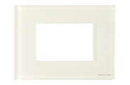 Рамка 3 модуля, итальянский стандарт - стекло белое, ABB Zenit (N2473 CB)