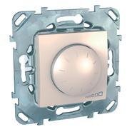 Светорегулятор (диммер) поворотный 400W в рамку бежевый Schneider Electric/Unica MGU5.511.25ZD