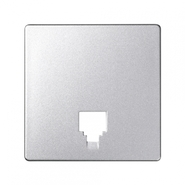 Simon 82 Лицевая панель адаптера для телефонной розетки (алюминий)