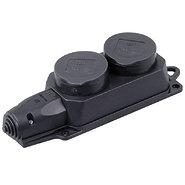 Розетка двойная наружная с заземлением каучук 16А IP44 (0400-0110)