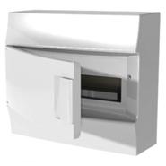 Бокс настенного монтажа, 12 модулей, белый, непрозрачная дверь, с клеммами, IP41, Mistral W - ABB