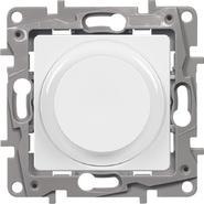 Светорегулятор поворотный, 300Вт, белый - Legrand Etika 672219