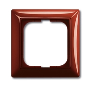 Установочная рамка 1 пост. красный, ABB Basic 55 (1725-0-1516)