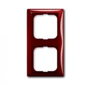 Установочная рамка 2 поста. красный, ABB Basic 55 (1725-0-1517)