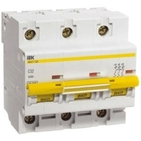 Выключатель автоматический трехполюсный 16А С ВА 47-100 10кА IEK (MVA40-3-016-C)