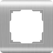 Werkel Stream Рамка на 1 пост (серебряный)