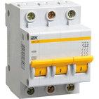 4A C 4.5kA 3P. Выключатель автоматический трехполюсный ВА47-29 IEK (MVA20-3-004-C)