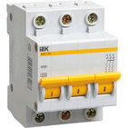 5A C 4.5kA 3P. Выключатель автоматический трехполюсный ВА47-29 IEK (MVA20-3-005-C)