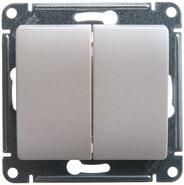 Выключатель двухклавишный сх.5 в рамку, перламутр GLOSSA Schneider Electric (GSL000651)