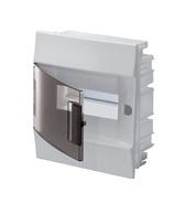 Бокс 8 модулей с клеммами, встраиваемый IP41, белый, прозрачная дверь, ABB Mistral F (1SLM004101A2202)
