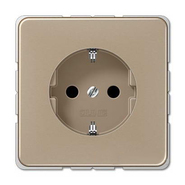 Розетка с заземляющими контактами, светлая бронза, Jung (CD1520GB)