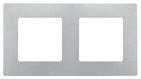 Рамка 2 поста алюминий Legrand Etika 672552