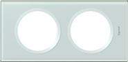 Legrand Celiane Двухместная рамка (смальта белая глина)