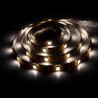 Лента светодиодная (LEDх30/м 5м) 7.2w/m 12в IP65 тепло-белый/на белом основании FERON (27650)