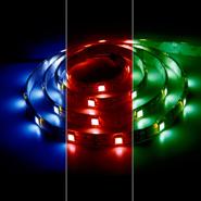 Лента светодиодная (LEDх60/м 5м) 14.4w/м 12В IP65 красный/зеленый/синий FERON (27651)
