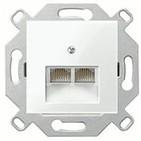 Розетка компьютерная 2-ая кат.5Е, RJ-45, альпийский белый, ABB Basic 55 (1753-0-0095/EPUAE8-8UPOK5)