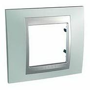 Рамка 1 пост флюорит/алюминий Schneider Electric/Unica Top MGU66.002.094
