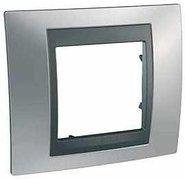 Рамка 1 пост матовый хром/графит Schneider Electric/Unica Top MGU66.002.238