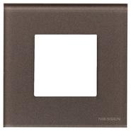 Рамка 1 пост - кофейное стекло, Zenit ABB (N2271 CC)