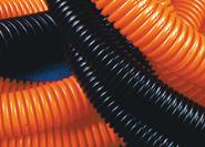 Труба ПНД гофрированная с протяжкой оранжевая d=20