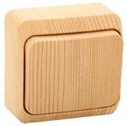 ЭТЮД Выключатель одноклавишный наружный сосна сх.1 (BA10-001D)