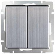 Выключатель 2 кл, WL02-SW-2G - глянцевый никель, Werkel