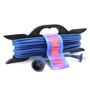 10м 1гн Удлинитель морозостойкий, на рамке 1 розетка шнур 10м ПВС 2х1 Powercube (PC-L1-F-10-R)