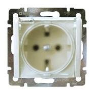 Розетка Legrand Valena Белая влагозащищенная с заземлением, крышкой и шторками IP44 774220
