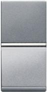 Одноклавишный переключатель 1 модуль ABB Zenit серебро (N2102 PL)