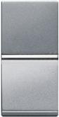 Одноклавишный проходной переключатель1 модуль ABB Zenit серебро - N2110 PL