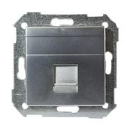 Simon 82 Телефонная розетка RJ-11 (алюминий)