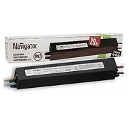 Трансформатор (драйвер) светодиодный LED 20w IP67 12v Navigator (71470 ND-P-IP67)