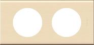 Legrand Celiane Двухместная рамка (дерево клен)