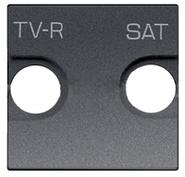 Накладка для TV-R-SAT розетки - антрацит, ABB Zenit (N2250.1 AN)