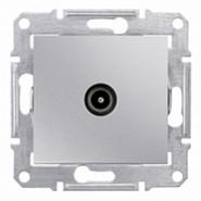 Розетка телевизионная TV оконечная 1дБ в рамку алюминий Sedna (SDN3201660)